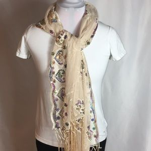 INC sequined scarf